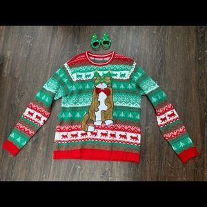 Cat Ugly Christmas Sweater XL